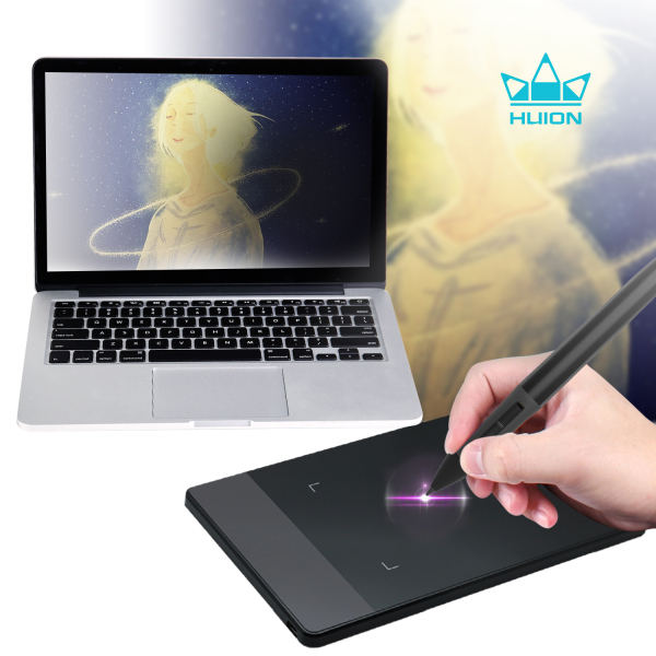 Huion 420 Black Tablet Graphics Drawing Pen Tablet 4 x 2.23 Inches