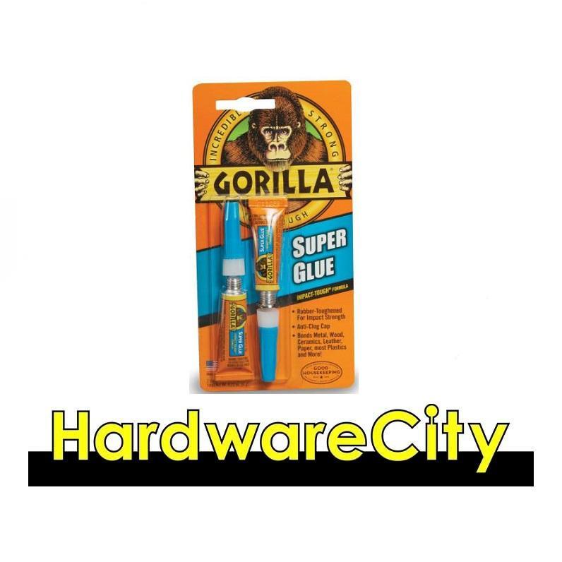 Gorilla Super Glue Tubes 2 X 3G (Pack Of 2 Tubes) [7800109]
