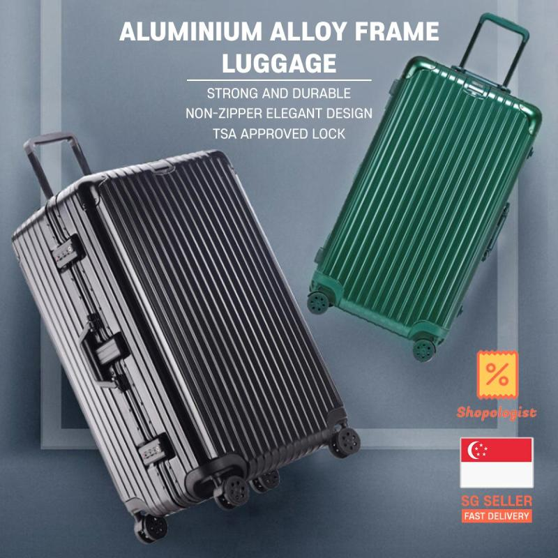 TRAVELLER 2020 New Classic Aluminium Alloy Frame Travel Luggage Case with TSA Lock 20 24 26 30 Inch Cabin Size Suitcase Trolley Bag