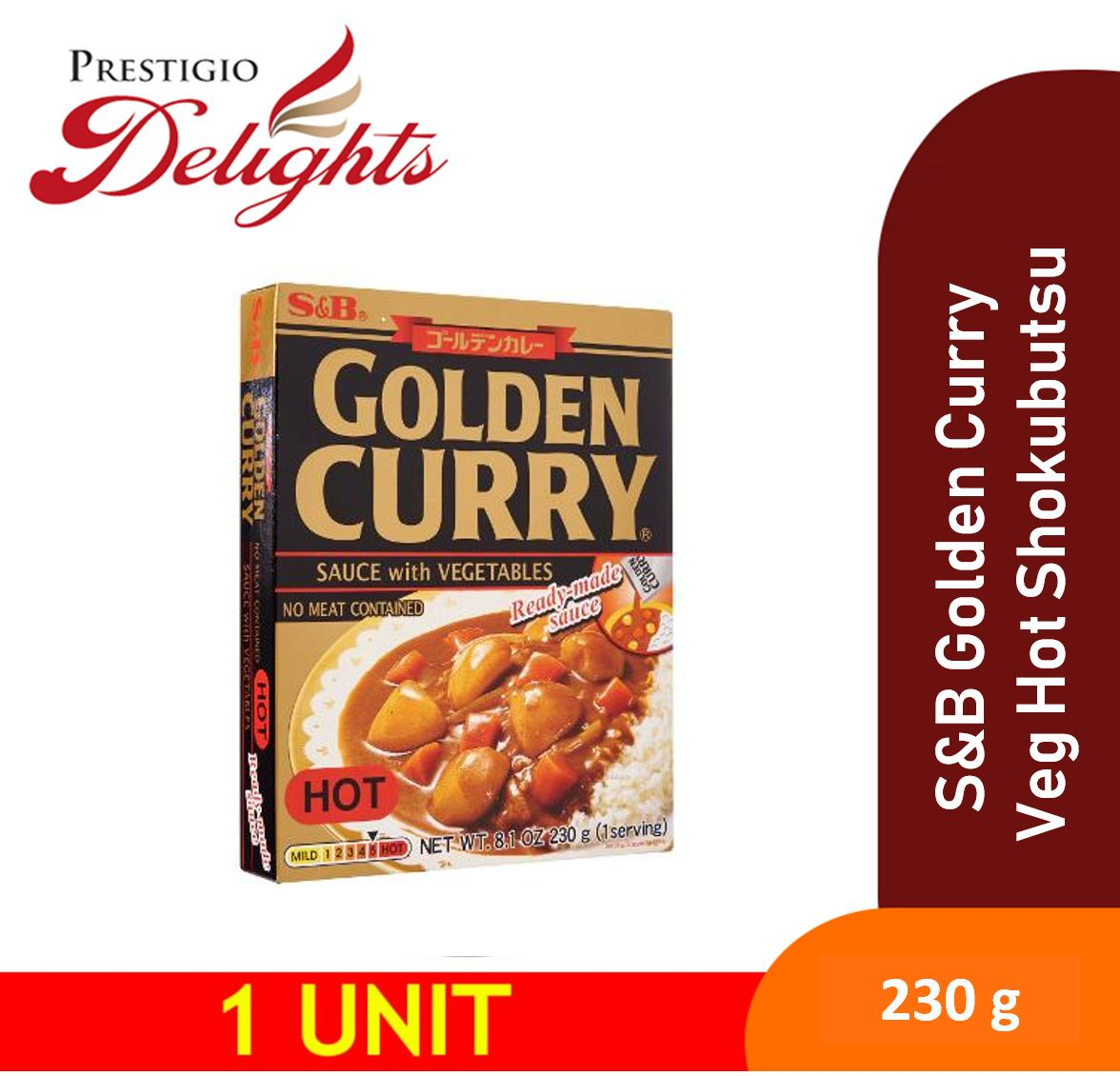 S&b Golden Curry With Vegetables Hot Shokubutsu 230g By Prestigio Delights.
