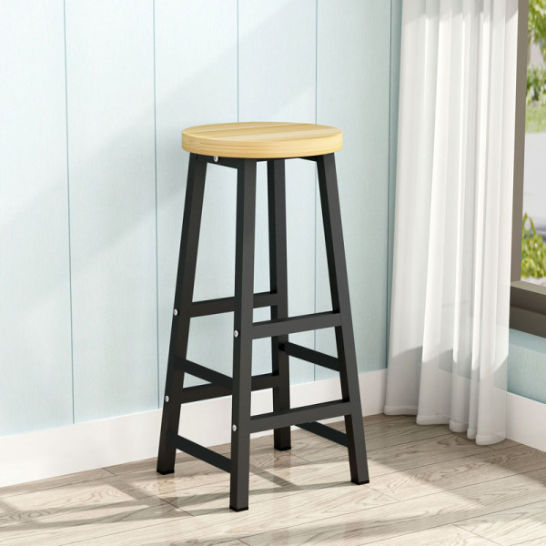 Longines Mini Bar Stool Home Tall Chair High Table Office Kitchen Living Room Dining Work Study Cocktail Table Chair 70cm with Leg Rest [3 Weeks Delivery]