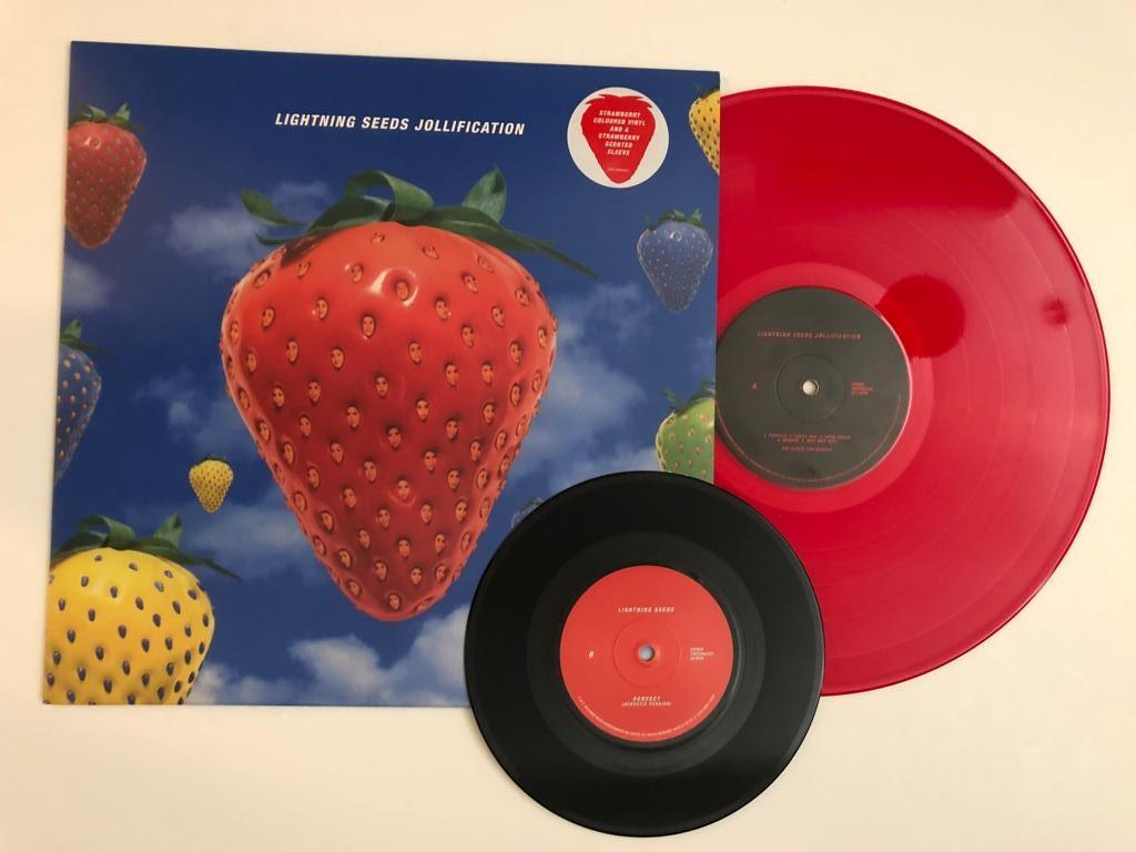 Lightning Seeds - Jollification (Strawberry coloured & scented vinyl LP)
