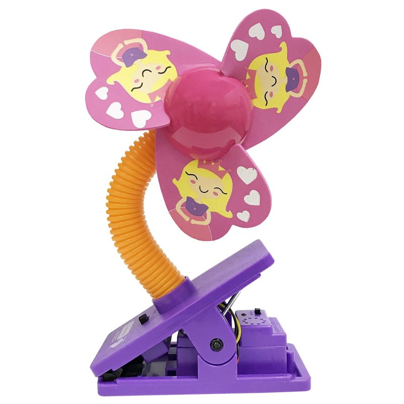 Lucky Baby Mini Safety Clip on Fan W/Ultrasonic Mosquito Repellent - Princess Singapore