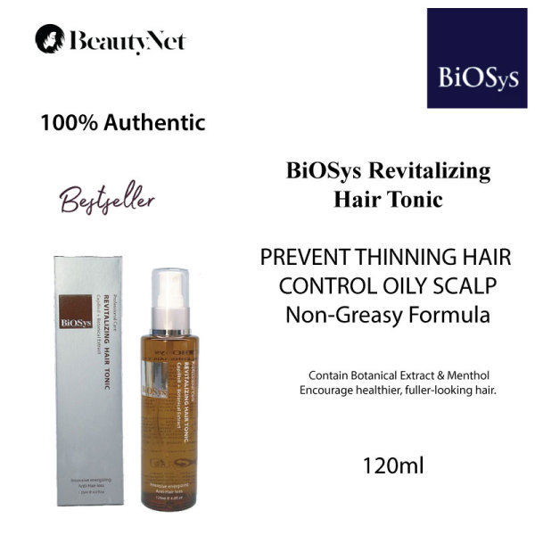 Buy BiOSys Revitalizing Hair Tonic, 120ml – Professional Care - Intensive Energizing Spray to Prevent Hair Loss & Promote Denser Hair • Non Greasy • Cool Menthol Scent Singapore