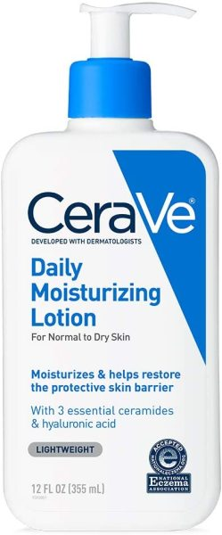 Buy CeraVe Daily Moisturizing Lotion 12 oz (355ml) with Hyaluronic Acid and Ceramides for Normal to Dry Skin Singapore