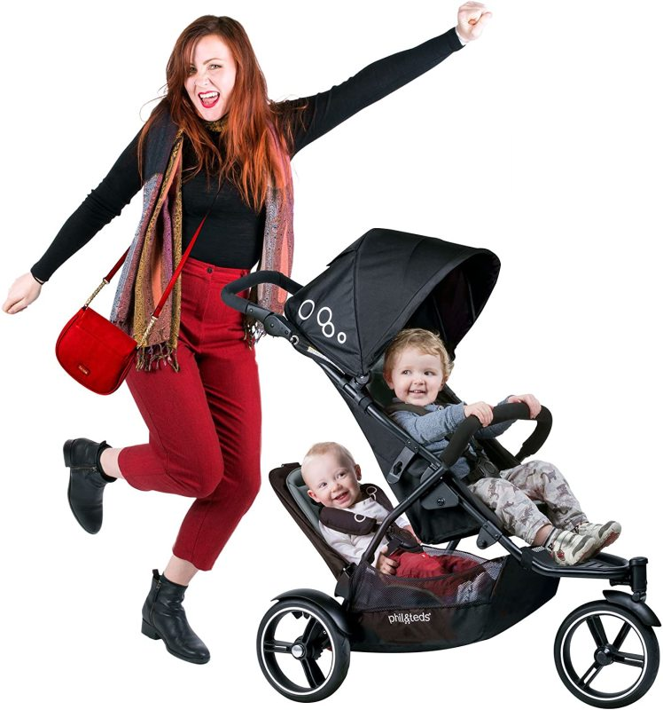 Phil & Teds Dot Compact Stroller with Double seats ( Graphite ) (Preorder - Arrive in 7 to 9 Working days) Singapore