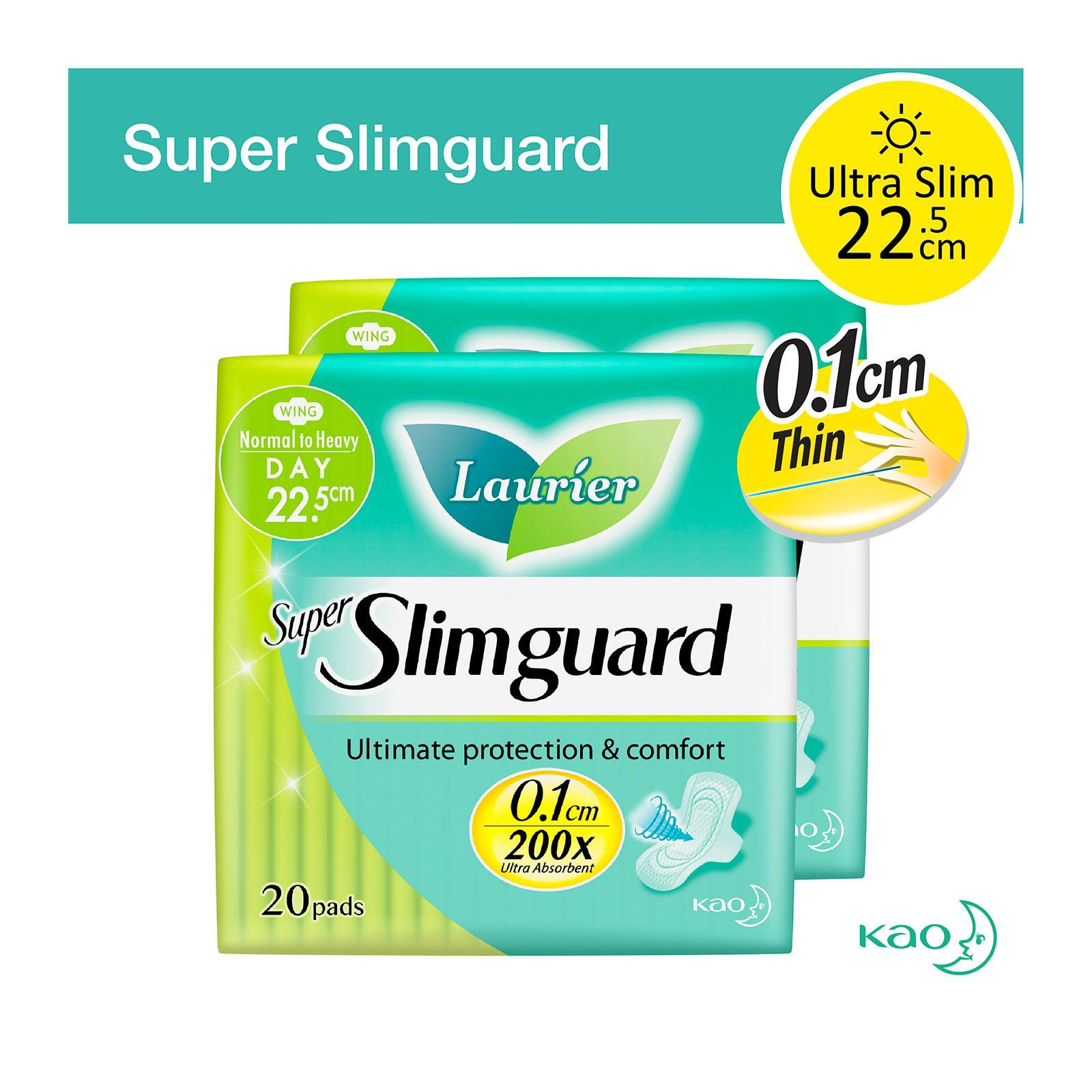 Laurier Super SlimGuard Day Wing Sanitary Pads 22.5cm