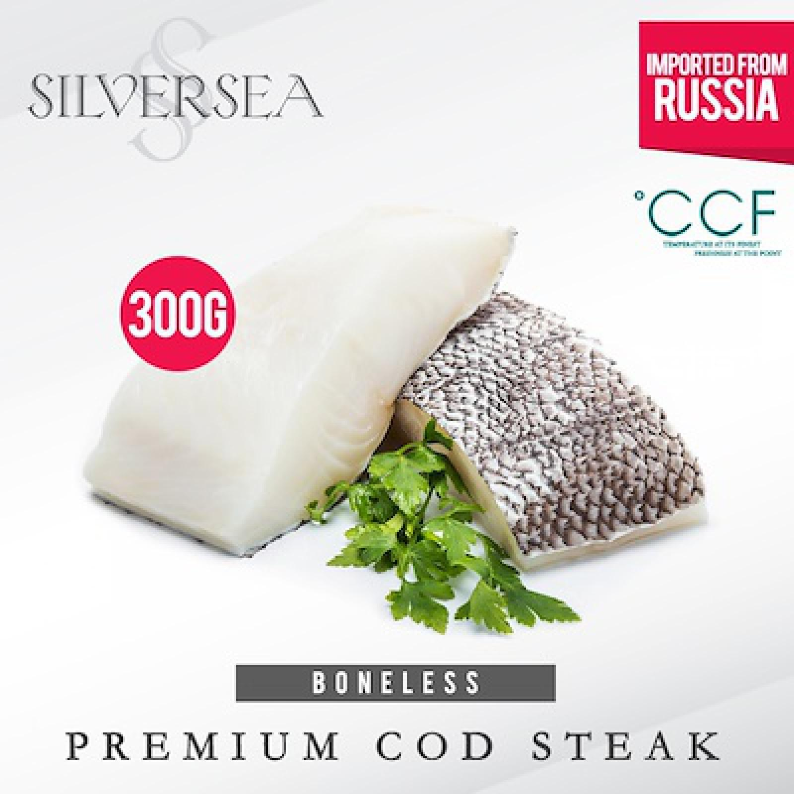 Silversea Premium Boneless Cod Fish Steak - Frozen