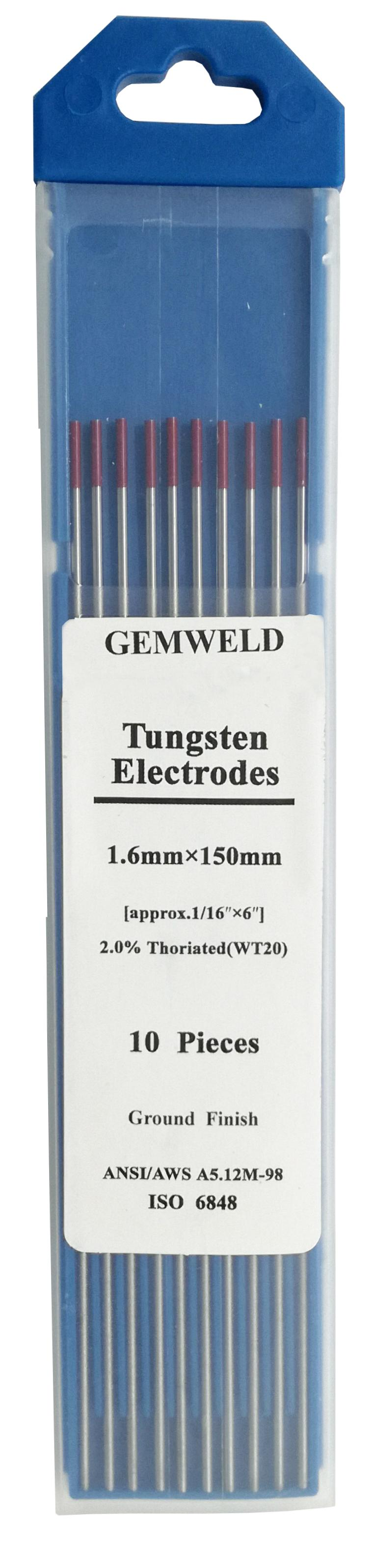 2 boxes/set Tungsten Electrodes φ 1.6*150mm 10 pieces