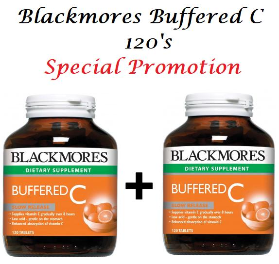 (Best Promotion!!) Blackmores Buffered C Slow Release 120's --GSS 2019 !!