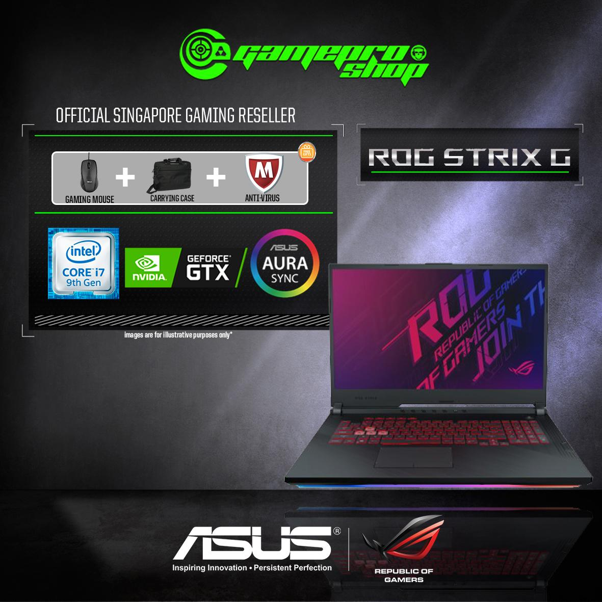 9th Gen ASUS ROG Strix G G731GU GTX1660Ti (I7-9750H / 16GB / 1TB SSD / W10) 17.3  FHD WITH 144Hz GAMING LAPTOP