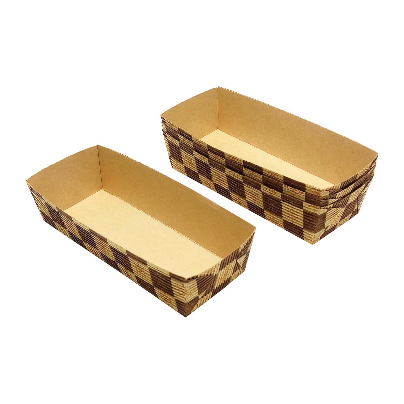 Vesta Paper Loaf Cake Tray (Brown Block)