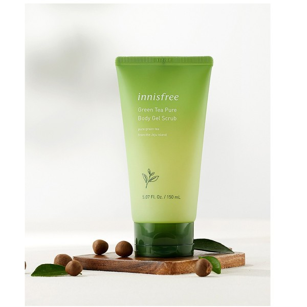 Buy [Innisfree] Green Tea Pure Body Gel Scrub (150ml) | Body Scrub | Exfoliator | Dead Skin Remover | Shower Gel Singapore