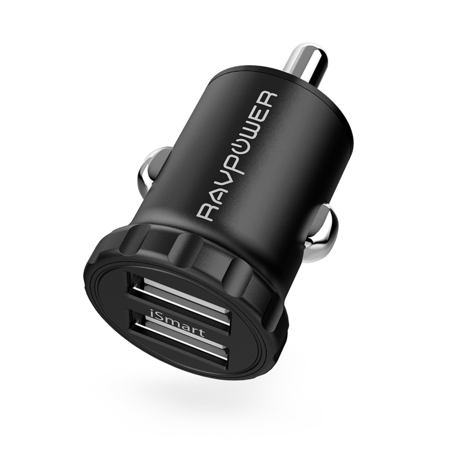 Ravpower Mini Dual Port (combined Total 24w) Car Charger, Compatible To Charge All Iphones And Android Smartphones [rp-Pc031] By Gadget King Asia.