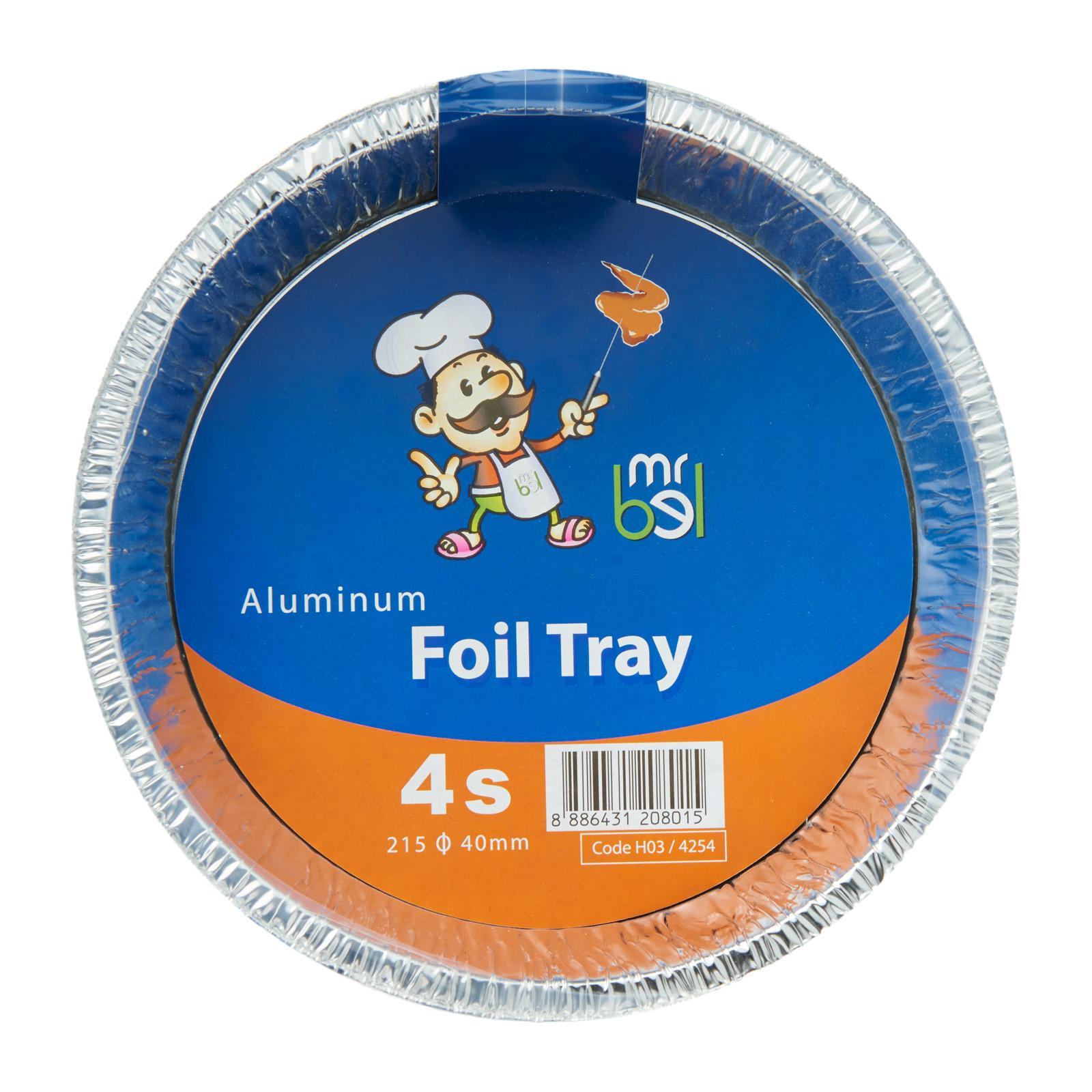 Mr Bel Disposable Round Aluminium Foil Tray