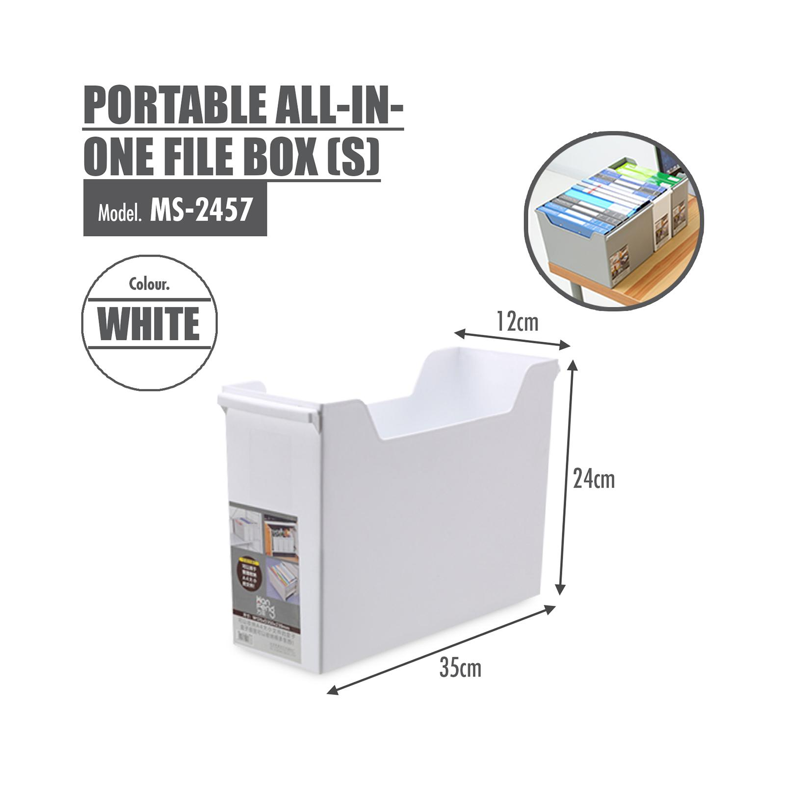 HOUZE Portable All-In-One File Box (S) (Dim: 35 x 12 x 24cm)