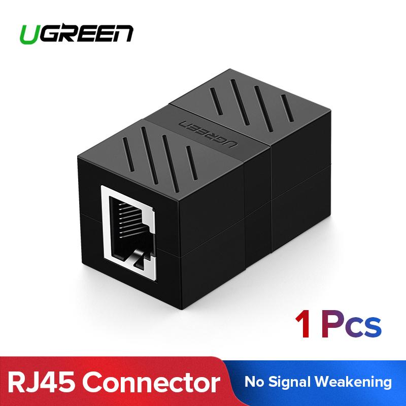 UGREEN RJ45 Cat7 Cat6 Cat5 RJ45 Female Connector Ethernet Adapter Lan Network Extender Extension Cable for Ethernet Cable ,Black-Intl