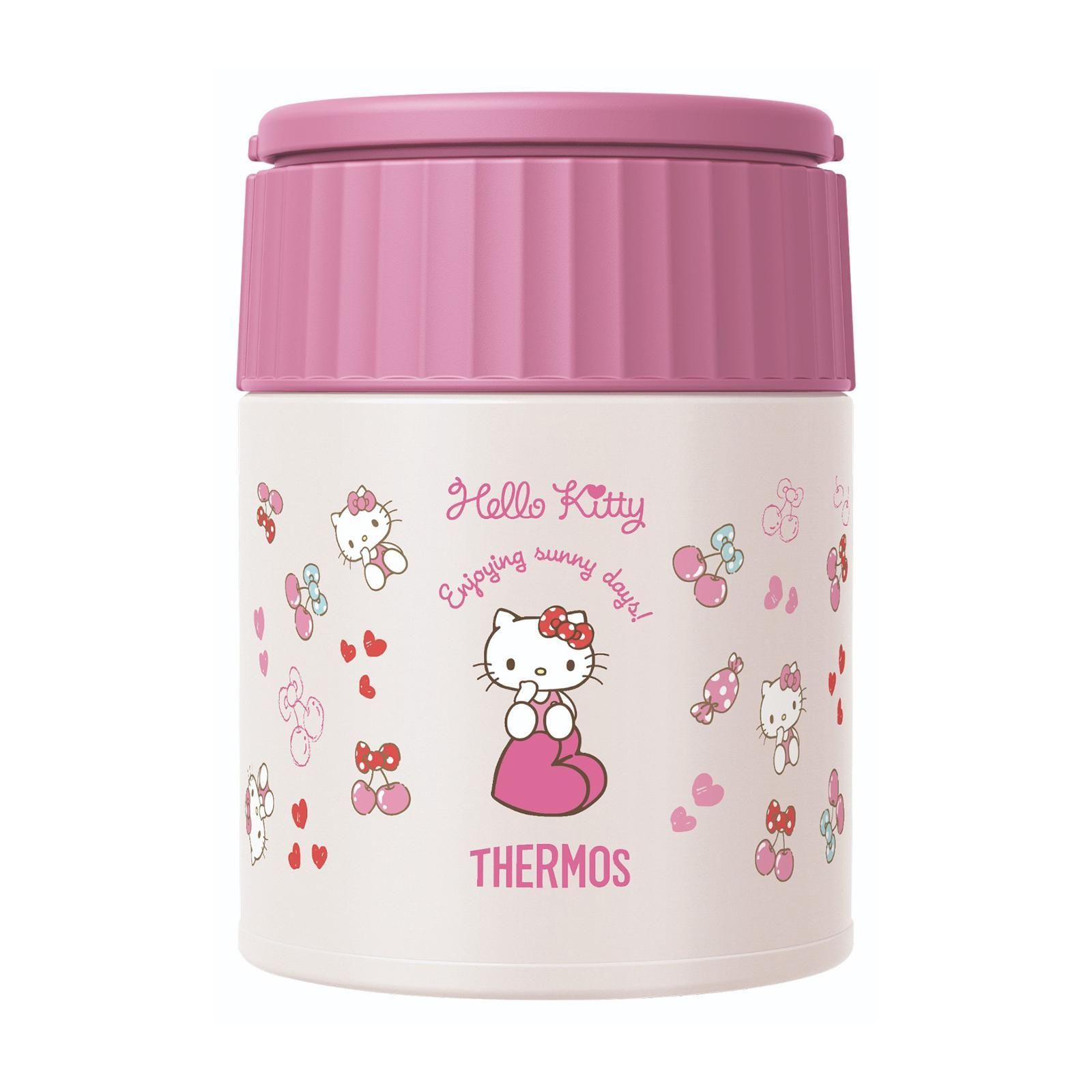 Thermos Jbq-400Hks Sanrio Hello Kitty Food Jar - Stainless Steel Vacuum Insulated