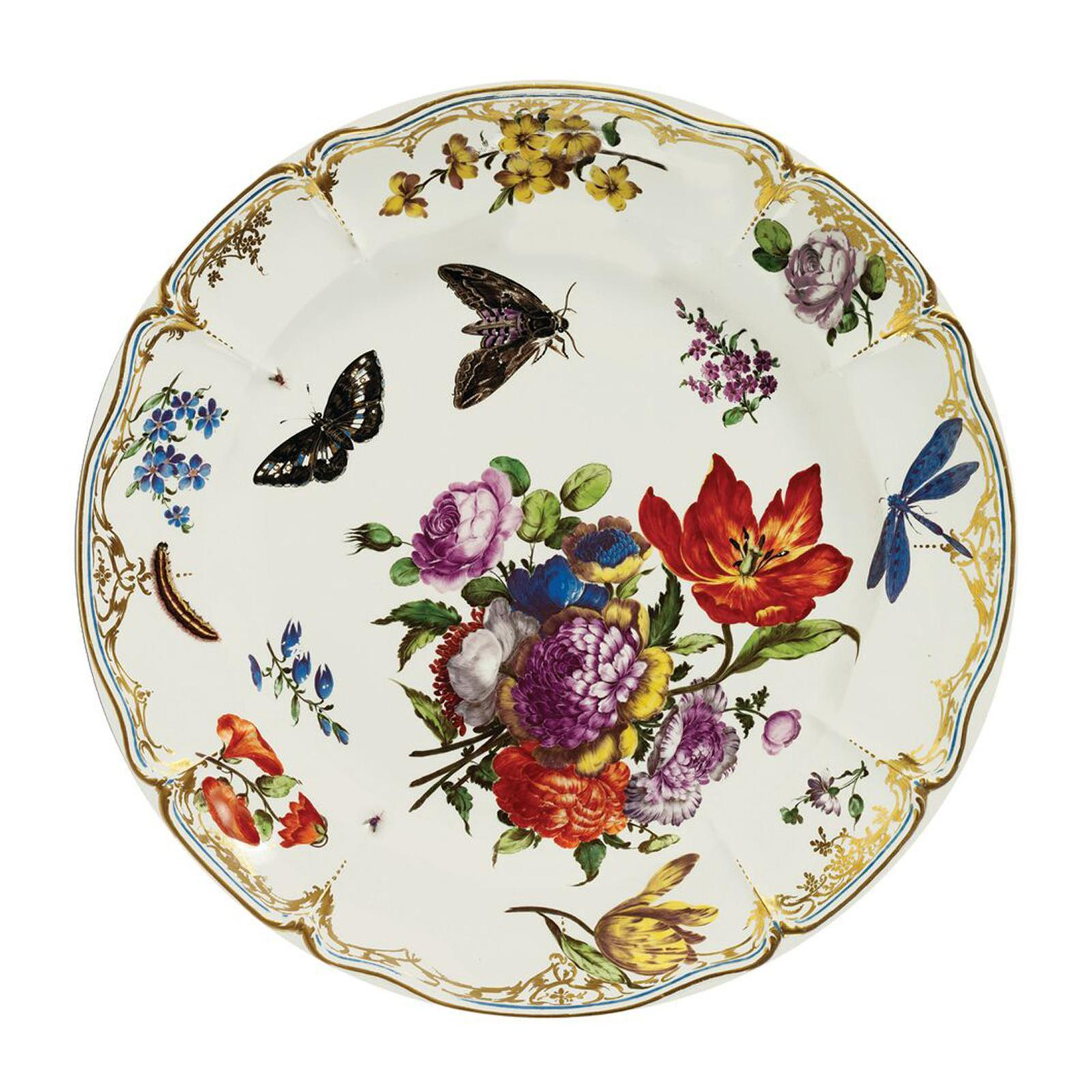 Elite Round 26 CM Tin Plate - Butterflies - By ToTT