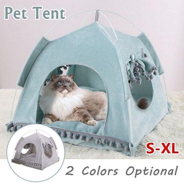 S-XL BOURG Mềm Mại Thảm Ngoài Trời Dành Cho Chó Nhỏ Vừa Với Nệm Mùa Hè Nhà Ngủ Cho Mèo Chăn Nuôi