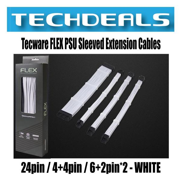 Tecware FLEX PSU Sleeved Extension Cables - 24pin / 4+4pin / 6+2pin*2