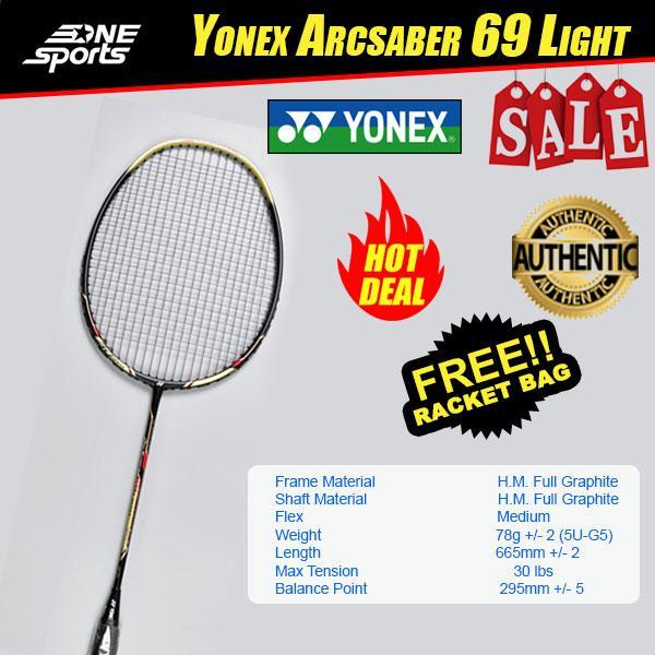 a044a8d5734774 YONEX ARCSABER 69 LIGHT BADMINTON RACKET POPULAR MODEL FREE RACKET BAG
