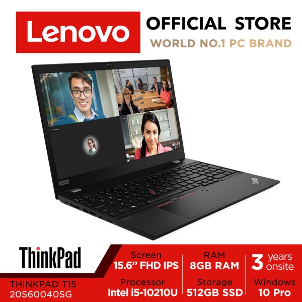 ThinkPad T15 | 20S60040SG | 15.6inch FHD IPS | i5-10210U | 8GB RAM | 512GB SSD | Win10 Pro | 3Yrs Warranty
