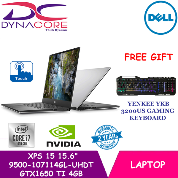 【DELIVERY IN 24 HOURS】 DYNACORE - DELL XPS 15 9500-107114GL-UHD Touch | Intel 10th Gen i7 | 16GB RAM | 1TB SSD | GTX1650 Ti 4GB Graphics | 9500-107114GL-UHDT | 2 Yrs DELL Warranty | New 2020 XPS 15