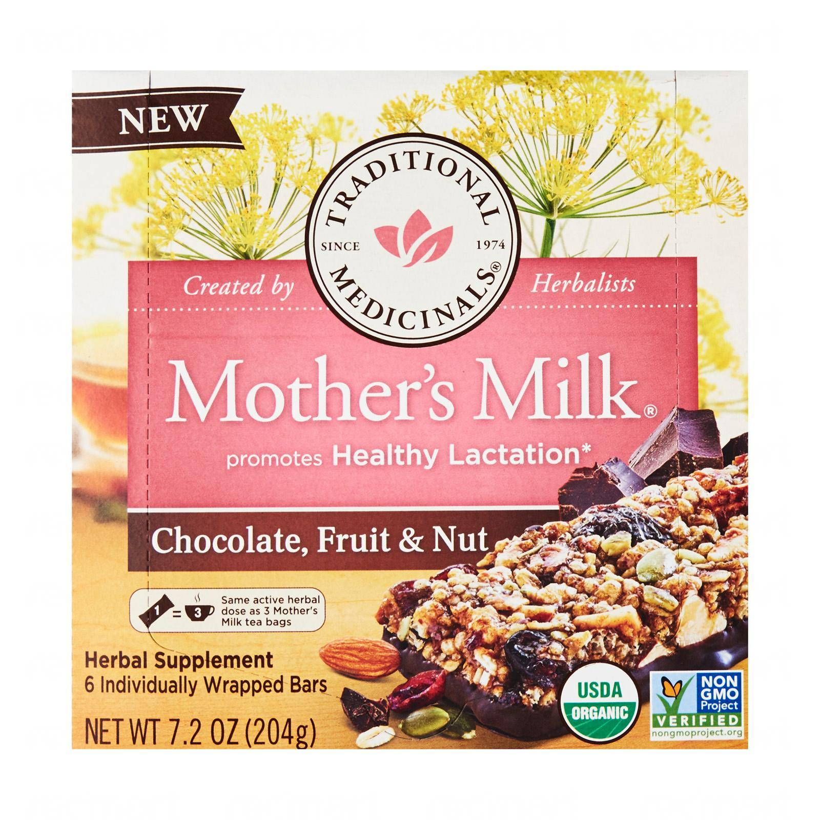 Traditional Medicinals Mother's Milk Chocolate, Fruit And Nuts Bars