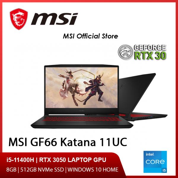 NEW 11th Gen MSI GF66 11UC-062SG Gaming Laptop (i5-11400H/8GB/RTX 3050/15.6 FHD 144hz/W10/2Y)