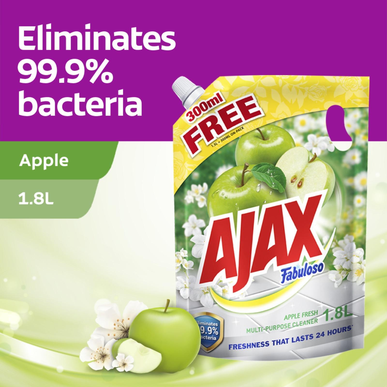 Ajax Fabuloso Apple Multi Purpose Floor Cleaner 1.8L Refill