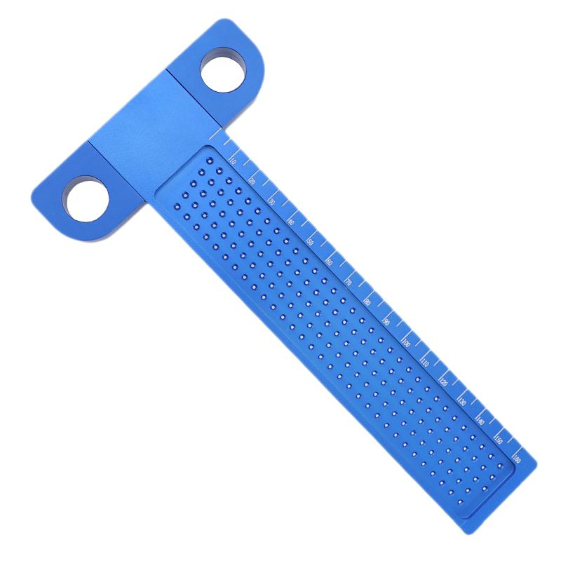 Woodworking T Ruler 160Mm Hole Positioning Crossed Marking Gauge Aluminum Alloy Metric Scriber Measuring Tools Carpenter