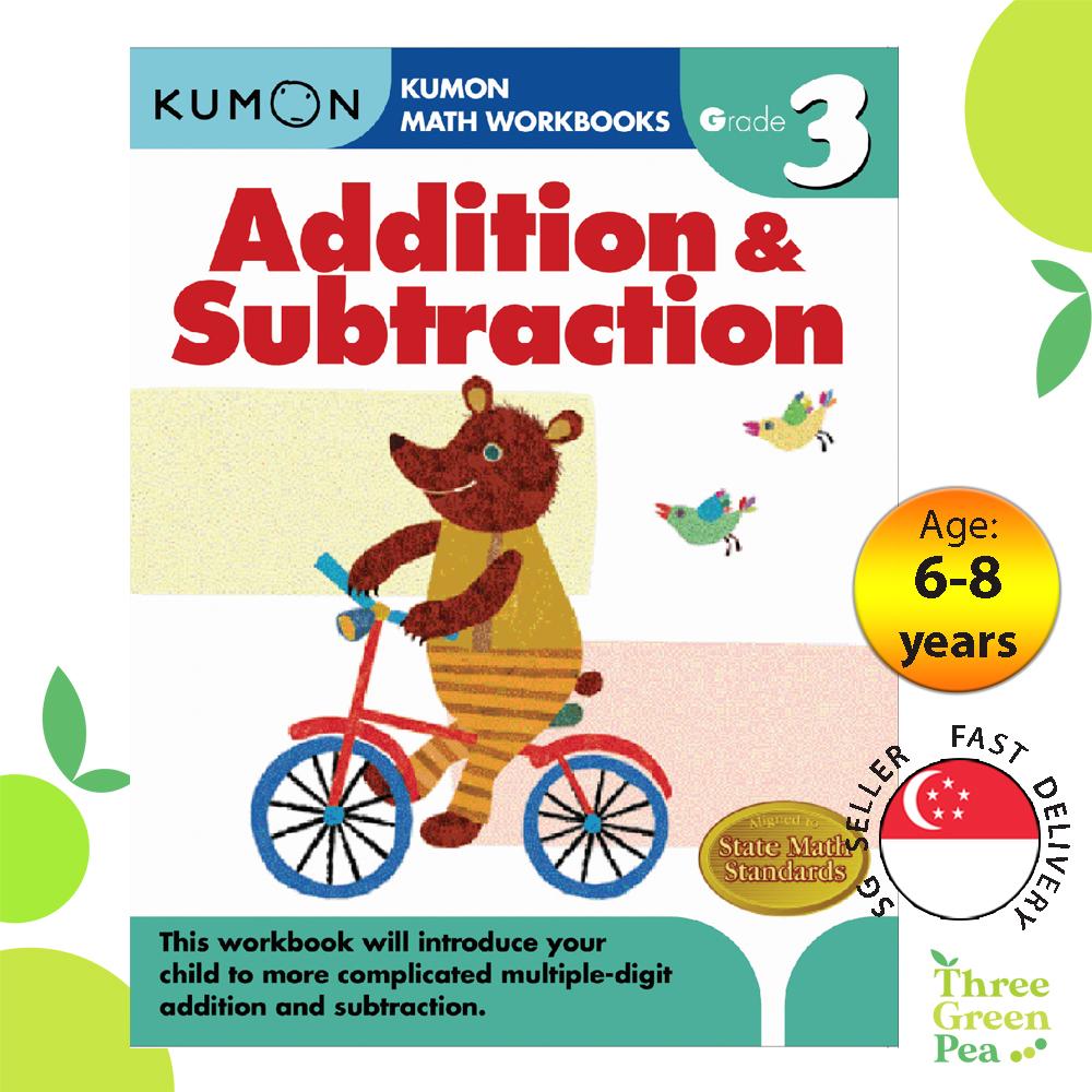 Kumon Math Workbooks Grade 3 - ADDITION & SUBTRACTION