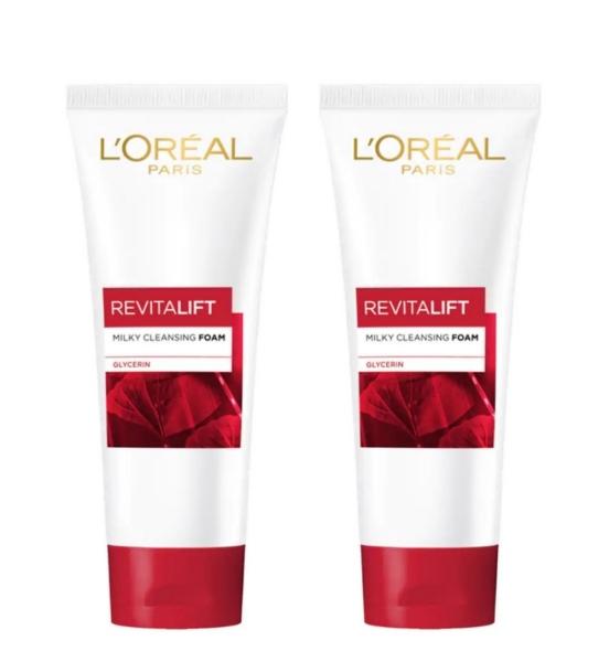 Buy LOREAL REVITALIFT MILKY FOAM 100ML X 2 QTY Singapore