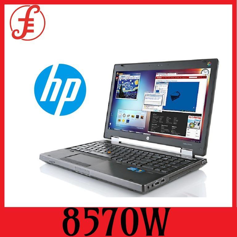 RECERTIFIED HP 8570W Grade A Laptop 8570W Intel Core i7 3rd Gen 3720 8GB Memory 240 GB SSD 15.6 (8570W)