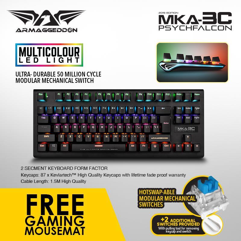 Armaggeddon Mechanical Gaming Keyboard MKA-3C(New) Fully Macro-able Singapore