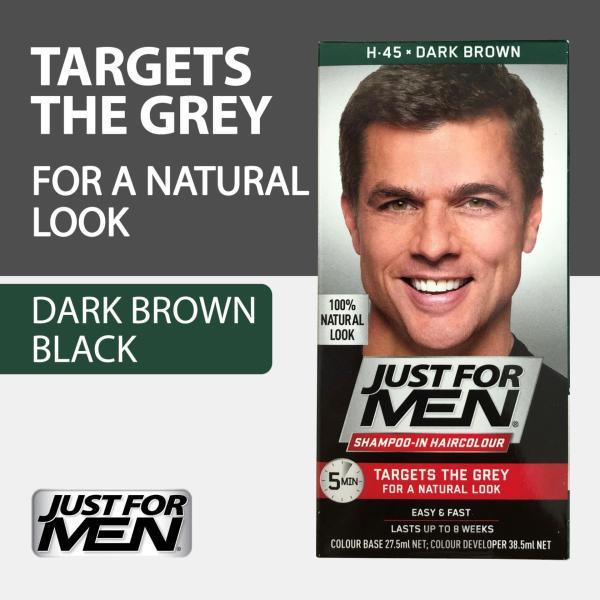 Buy Just For Men Shampoo-In Hair Color - Dark Brown Singapore