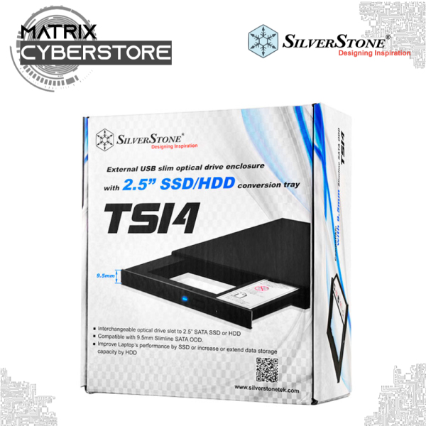 """SilverStone SST-TS14B(Interchangeable optical drive slot to 2.5"""" SATA SSD or HDD)"""