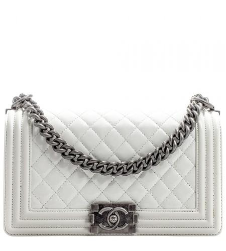 bc911ea3b583 ... Top-Handle Bags. Preloved Chanel Le Boy Flap Medium Bshw - A67086