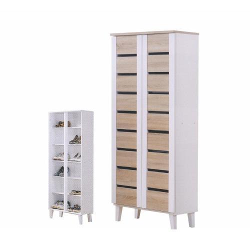 [A-STAR] Tall Shoe cabinet Wooden Scandinavian Shoe rack Pine White (Free Install)