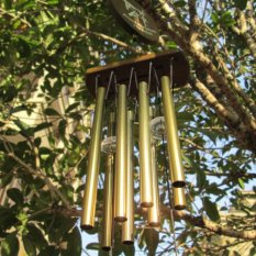 Fashion Antique Bronze 8 Tubes Wood Chapel Church Bells Wind Chimes New Arrival Sale