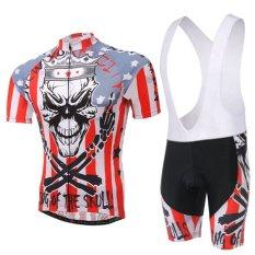 Buy Fashion Men Cycling Clothing Set Short Sleeve Bicycle Jersey Bib Shorts Quick Dry Export China