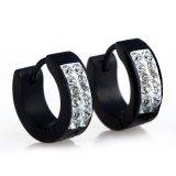 Deals For Fashion Mens Women Crystal Stainless Steel Ear Hoop Stud Earrings Gaugesx1Pair