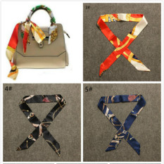 Best Price Fashion Women Lady S Twilly Ribbon Tied The Bag Handle Buckle Scarf Intl