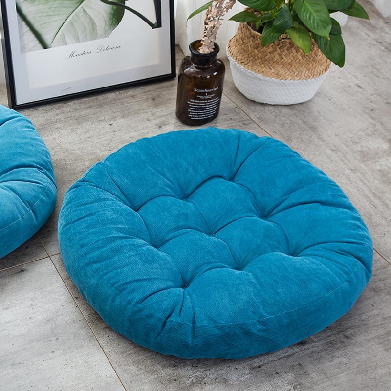 Japanese Style Simple Corduroy Fabric round throw pillow Lazy Sofa throw pillow Tatami Mat Thick Futon