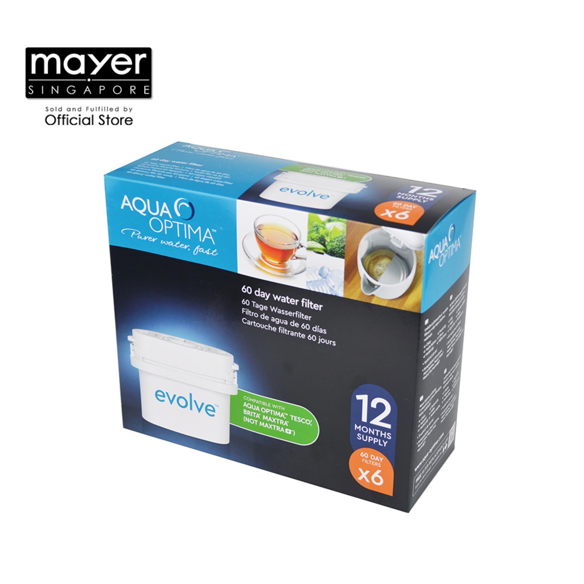 Aqua Optima Evd602 Evolve Water Filter Pack Of 6 By Mayer Marketing Pte Ltd.