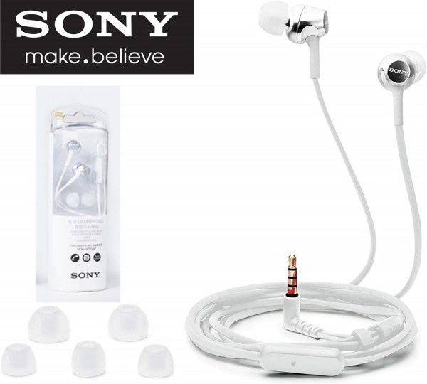 SONY Original MDR-EX255AP 3.5mm Wired In-ear Earphone Gaming Earbuds With Mic Handsfree Headphones For Ios IPhone and Android Huawei Xiaomi Oppo Vivo Samsung Singapore