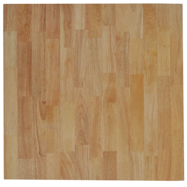 Rubberwood Square Timber Table Top (Top Only)