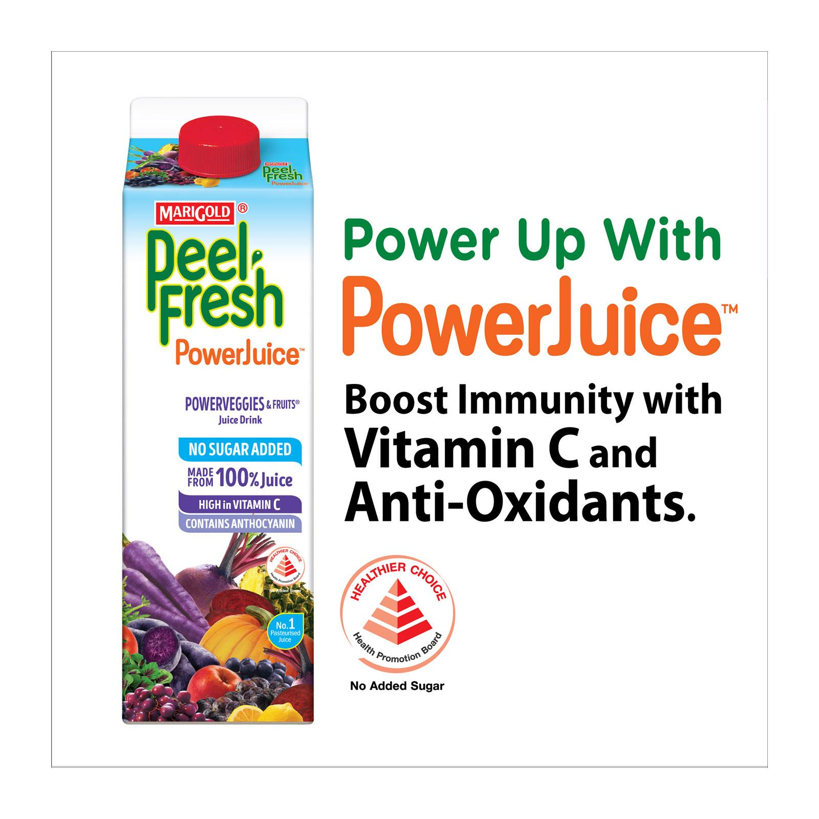 MARIGOLD Peel Fresh No Sugar Added Juice Drink - Powerveggies and Mixed Fruits