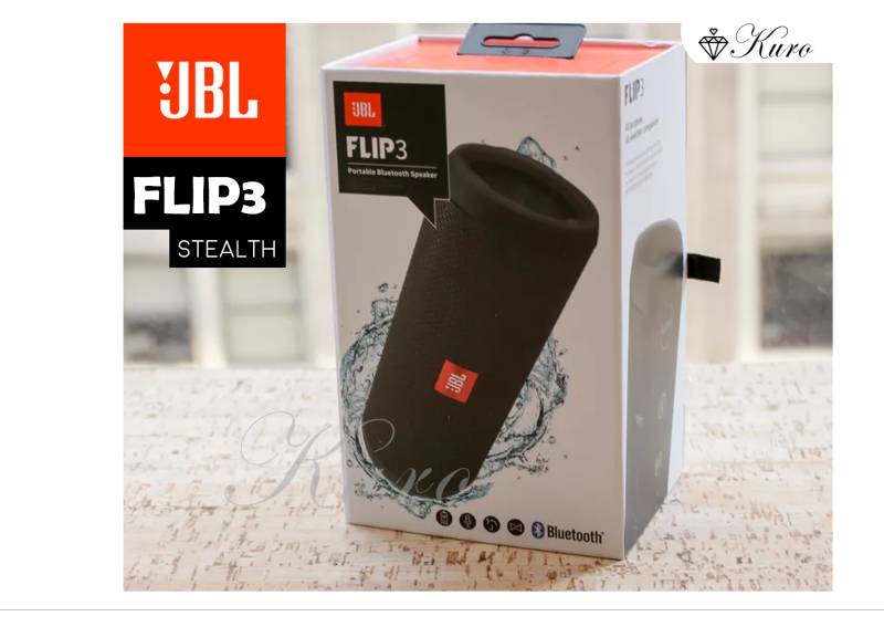 JBL Flip 3 Stealth Portable Bluetooth Speaker – Waterproof IPX7, 10Hrs Playback (Best speaker under $100!) Singapore